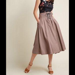 NWT Lainey's Lacing Corset Midi Skirt